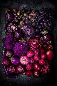 Alimentos roxos e pretos