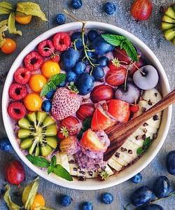 Frutas na alimentação